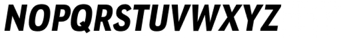 URW Geometric Condensed Heavy Oblique Font UPPERCASE