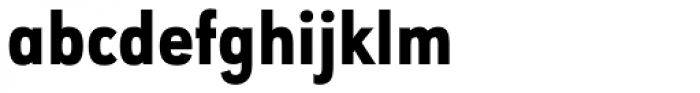 URW Geometric Condensed Heavy Font LOWERCASE