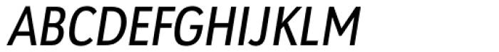 URW Geometric Condensed Medium Oblique Font UPPERCASE