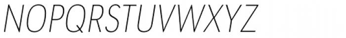URW Geometric Condensed Thin Oblique Font UPPERCASE