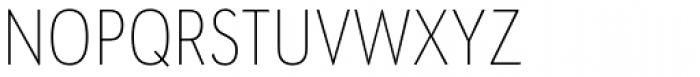 URW Geometric Condensed Thin Font UPPERCASE
