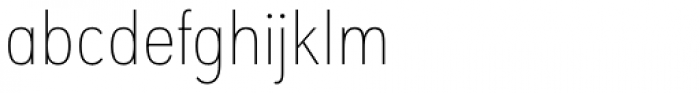 URW Geometric Condensed Thin Font LOWERCASE