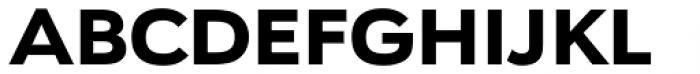 URW Geometric Extended Black Font UPPERCASE