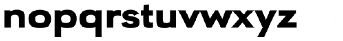 URW Geometric Extended Black Font LOWERCASE
