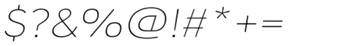 URW Geometric Extended Thin Oblique Font OTHER CHARS