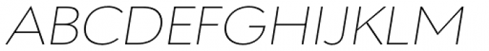 URW Geometric Extended Thin Oblique Font UPPERCASE