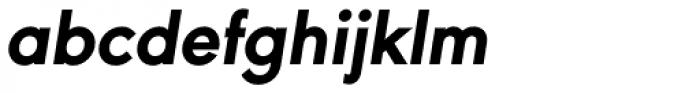 URW Geometric ExtraBold Oblique Font LOWERCASE