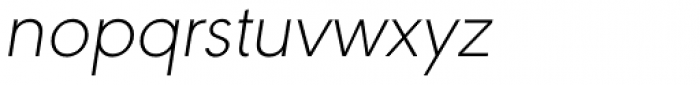 URW Geometric ExtraLight Oblique Font LOWERCASE