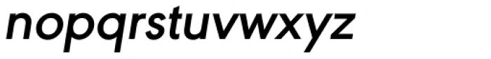URW Geometric SemiBold Oblique Font LOWERCASE