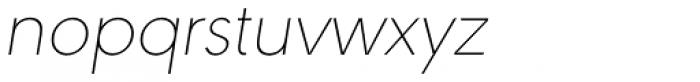 URW Geometric Thin Oblique Font LOWERCASE