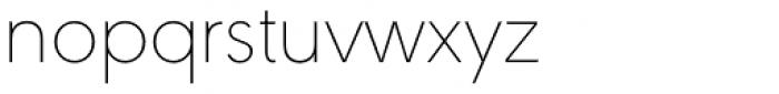 URW Geometric Thin Font LOWERCASE