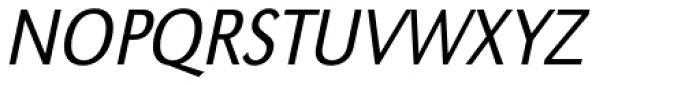 URW Grotesk ExtraNarrow Light Oblique Font UPPERCASE