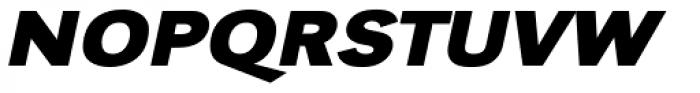 URW Grotesk ExtraWide Bold Oblique Font UPPERCASE