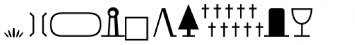 URW Signs And Symbols D Font OTHER CHARS