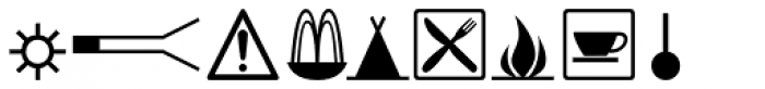URW Signs And Symbols D Font UPPERCASE