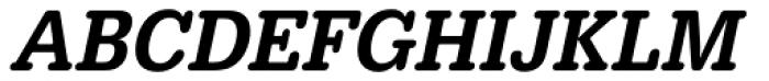 URW Typewriter ExtraNarrow Medium Oblique Font UPPERCASE