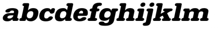 URW Typewriter ExtraWide Bold Oblique Font LOWERCASE