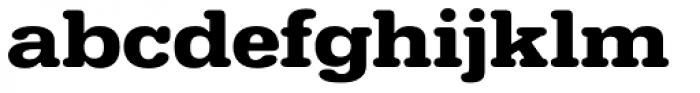 URW Typewriter ExtraWide Bold Font LOWERCASE