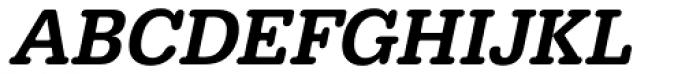 URW Typewriter Narrow Medium Oblique Font UPPERCASE