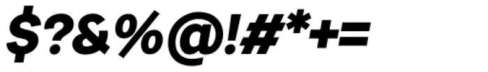 Urban Grotesk Black Italic Font OTHER CHARS