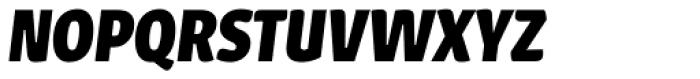 Urbana Bold Italic Font UPPERCASE