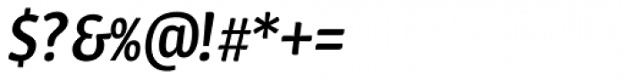 Urbana Medium Italic Font OTHER CHARS