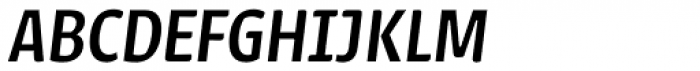 Urbana Medium Italic Font UPPERCASE