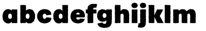 Urbane Rough Heavy Font LOWERCASE