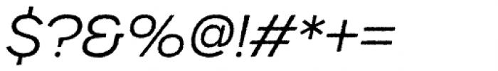 Urbane Rough Light Italic Font OTHER CHARS
