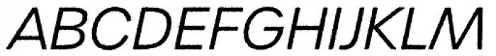 Urbane Rough Light Italic Font UPPERCASE