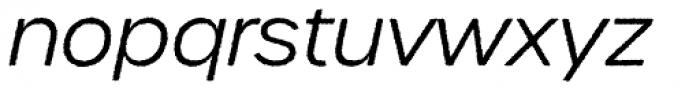 Urbane Rough Light Italic Font LOWERCASE