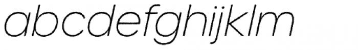 Urbane Rough Thin Italic Font LOWERCASE