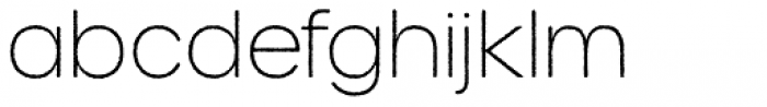 Urbane Rough Thin Font LOWERCASE