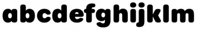 Urbane Rounded Heavy Font LOWERCASE