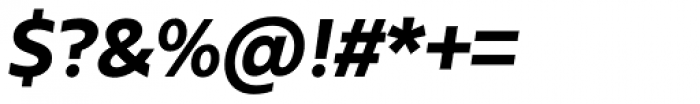 Urbani Extra Bold Italic Font OTHER CHARS