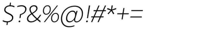 Urbani Light Italic Font OTHER CHARS
