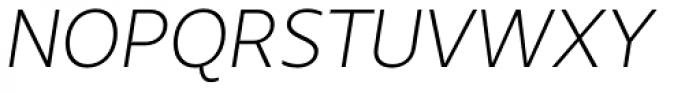 Urbani Light Italic Font UPPERCASE