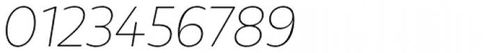 Urbani Thin Italic Font OTHER CHARS
