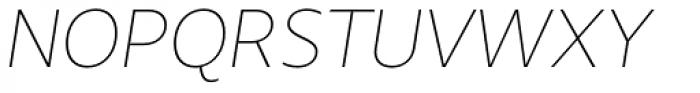 Urbani Thin Italic Font UPPERCASE
