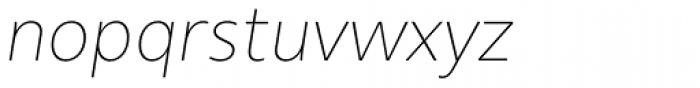 Urbani Thin Italic Font LOWERCASE