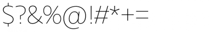 Urbani Thin Font OTHER CHARS