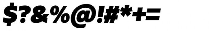 Urbani Ultra Black Italic Font OTHER CHARS