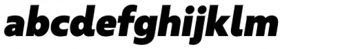 Urbani Ultra Black Italic Font LOWERCASE