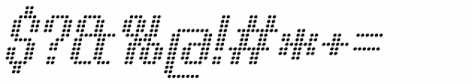 Urbix Nu Dot Light Italic Font OTHER CHARS