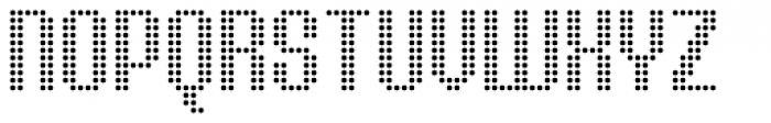 Urbix Nu Dot Light Font UPPERCASE