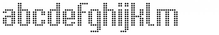 Urbix Nu Dot Light Font LOWERCASE