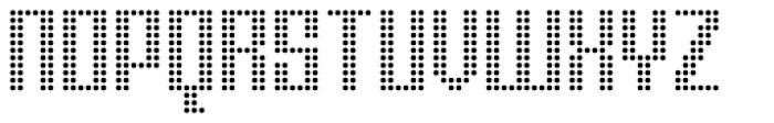 Urbox Nu Dot Light Font UPPERCASE