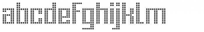 Urbox Nu Dot Light Font LOWERCASE