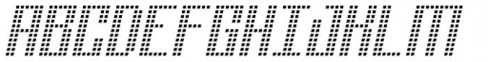 Urbox Nu Lcd Light Italic Font UPPERCASE