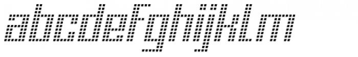 Urbox Nu Lcd Light Italic Font LOWERCASE